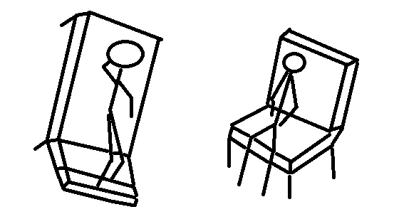 stick figure drawing of a counselling session
